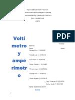 Voltimetro y Amperimetro