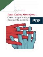JC Monedero-Curso Urgente de Politica