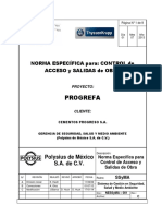 Control de Accesos y Salidas 17.01.2014