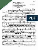 Beethoven Werke Breitkopf Serie 16 No 129 Op 10 No 2