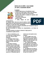 25 Consejos de Un Niño a Sus Padres