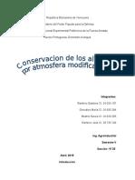 Conservación de Los Alimentos Por Atmosfera Modificada. Trabajo