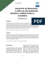 3. Implementacion de Un Laboratorio de Energia Eolica