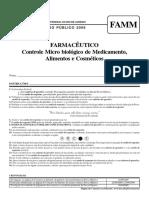 UFRJ 2009 Farmaceutico Controle Microbiologico de Medicamentos Alimentos e Cosmeticos