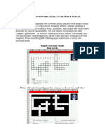 Create Crossword Puzzle