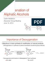 Deoxygenation Methods