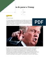 La Urgencia de Parar a Trump