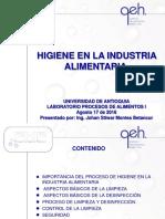 Capacitación Higiene en La Industria Alimentaria (Agosto 17 de 2016)