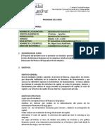 Administracion Financiera II, P.F.S. 2,016