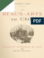 Vicente Grez, Les Beaux-Arts Au Chili 1889