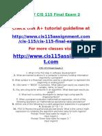 DEVRY CIS 115 Final Exam 2.doc
