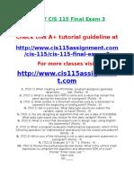 DEVRY CIS 115 Final Exam 3.doc