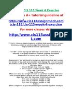 DEVRY CIS 115 Week 4 Exercise.doc
