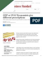 GDP or GVA_ Economists Give Different Prescriptions _ Business Standard News