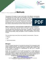 Communication Methods 2012