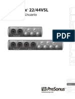 Manual de Usuario de Audiobox 22/44VSL
