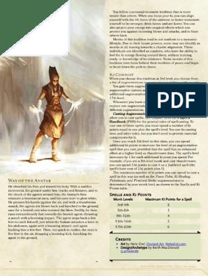 D&D 5e Endless Monk Compilation V1 0