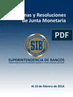 Disposiciones de la Junta Monetaria
