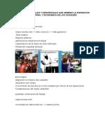 Listado de Ventajas y Desventajas Que Genero La Expancion Industrial y Economica de Las Ciudades