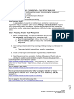 ITM Guidelines for Answering a Case Study Assignment 2016