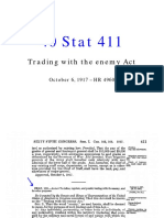 1917 Trading With the Enemy Act