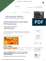 Andhra Pradesh 2016 Current Affairs PDF Free Download