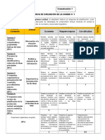 Rúbrica de Evaluación de Comu 1 Unidad 1