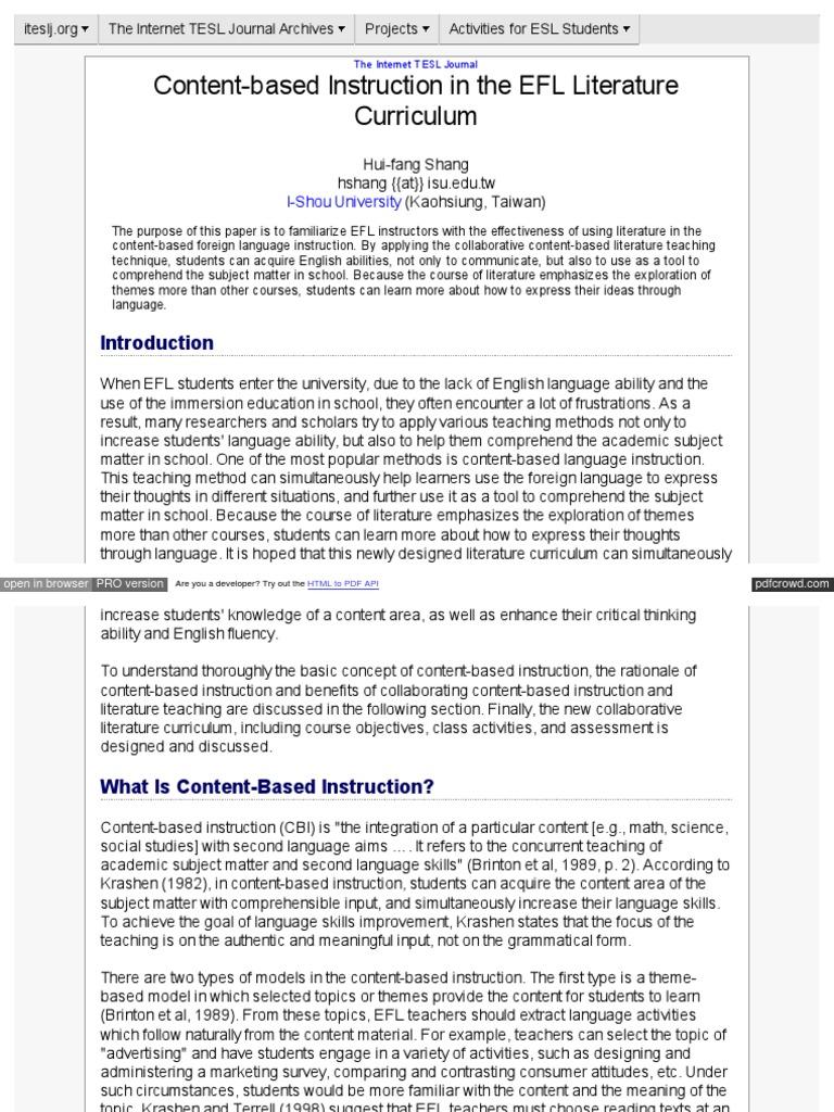 Item detail content-based instruction description.