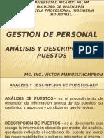 Gestion de Personal Sesion Analisis y Descripcion de Puestos