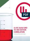 UL IEC 61010 2nd to 3rd EdItIon CorrELatIon