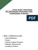 Sistematika Buku Pedoman Pelaksanaan Program Ukm Puskesmas Porong