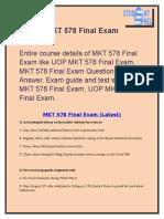 MKT 578 Final Exam