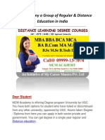 Distance Learning Education in India |  Single sitting Degree