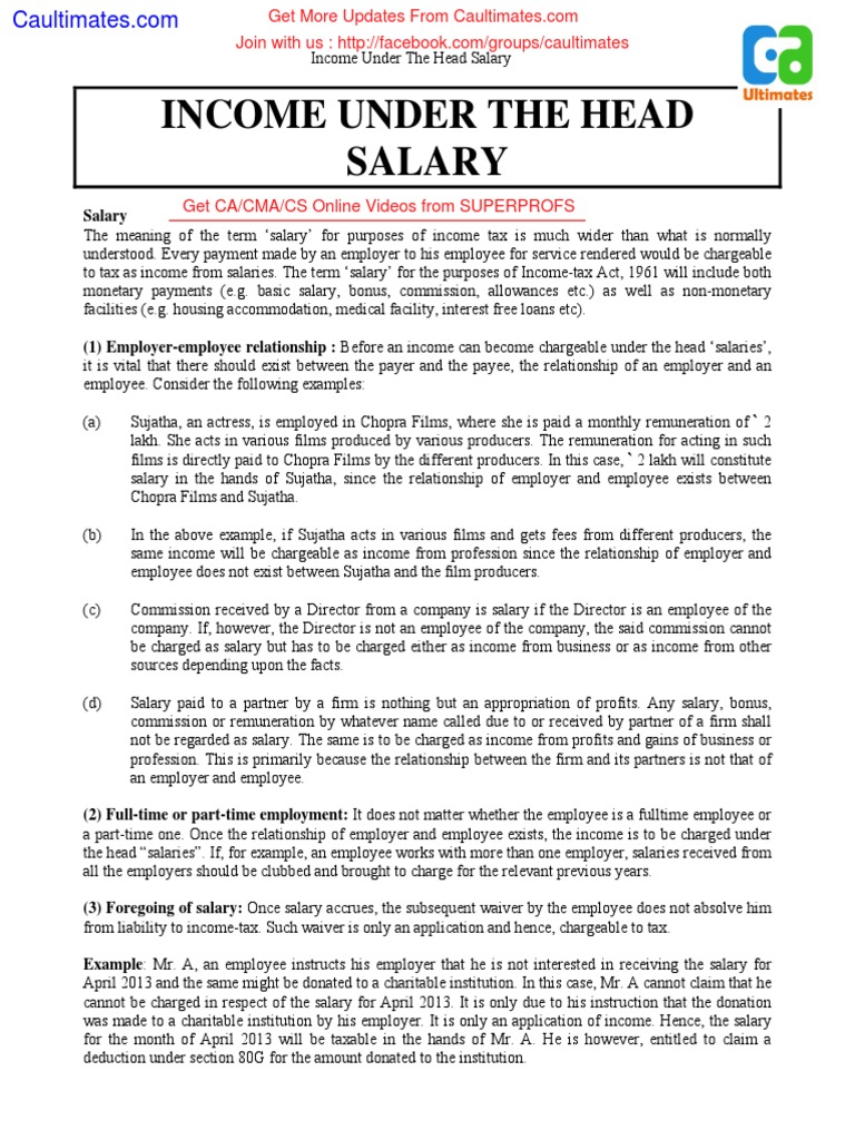 How to charge a salary in 1s 18