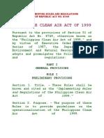 IRR of Republic Act 8749