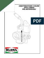 tabelle_spilli_carburatori Dell' Orto