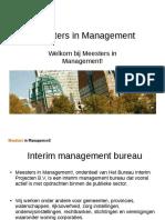 Meesters in Management! Interim management bureau