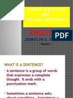 Asking Sentences & Telling Sentences