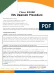 Cisco 6500 IOS Upgrade Procedure