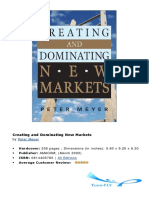 P.meyer - Creating and Dominating New Markets