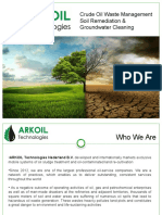 ARKOIL Crude Oil Waste Management Soil Remediation & Ground Waters Cleaning