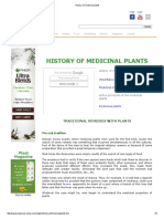 History of Medicinal Plants