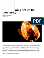What Amazing Bosses Do Differently