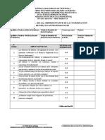Instrumento de Evaluación Del Representante de La Coordinación de Prácticas Profesionales