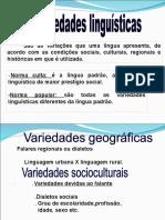 Variedades Da Língua