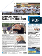 Asbury Park Press Front Page, September 17, 2016