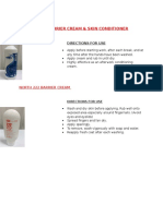 Barrier Cream Direction for Use