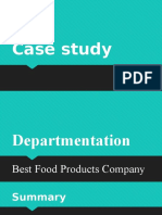 Case Study on Departmentation