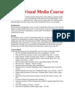 Audio Visual Media Courseasdasdasdsd