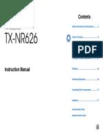 TX-nr626 Manual e